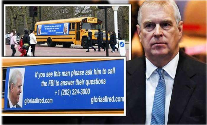 Prince Andrew School Bus message