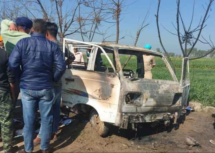 Sangrur Longowal School Van Fire
