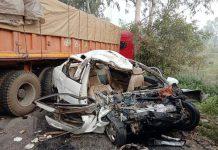 Truck Car Road Accident