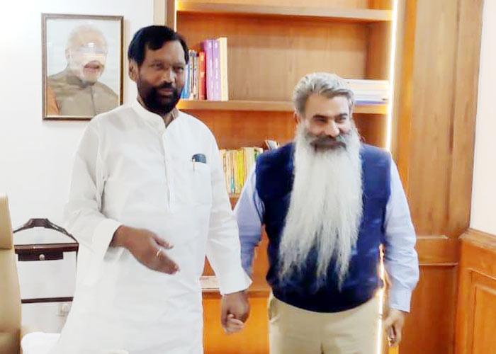 Bharat Bhushan Ashu meet Ram Vilas Paswan