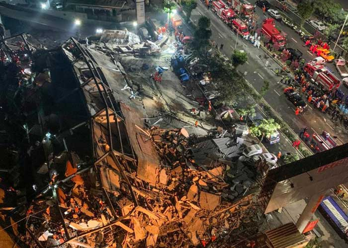 China building collapse 8Mar20