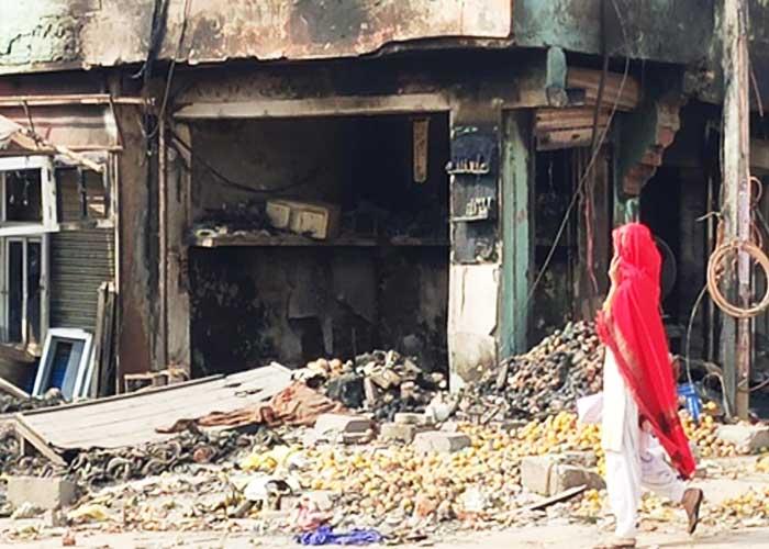 Delhi Chand Bagh Shop Burnt