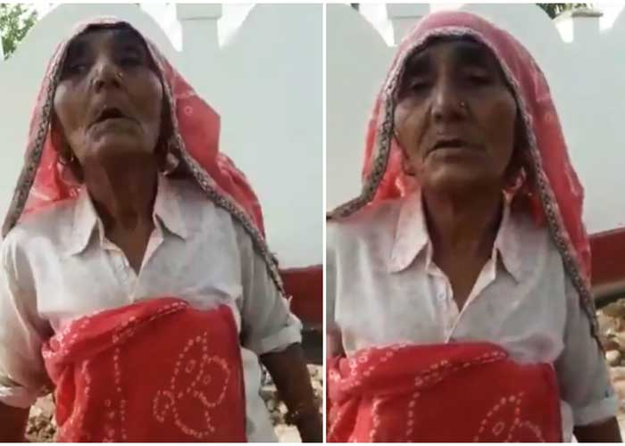 Elderly woman speaking English