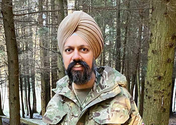 Tan Dhesi in UK Army Uniform