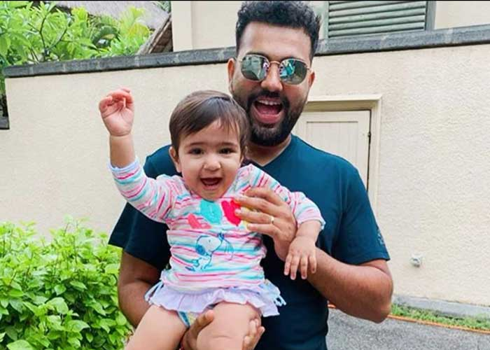 Rohit Sharma with Daughter