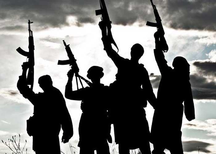 Terrorists with gun Shadow