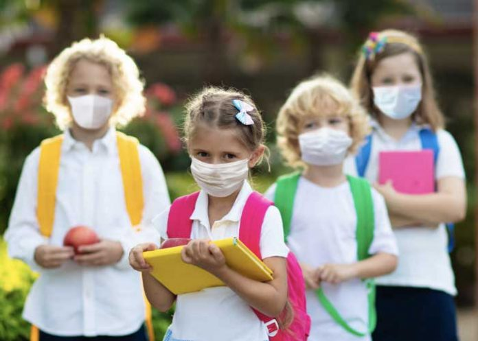 Children wearing Face Mask