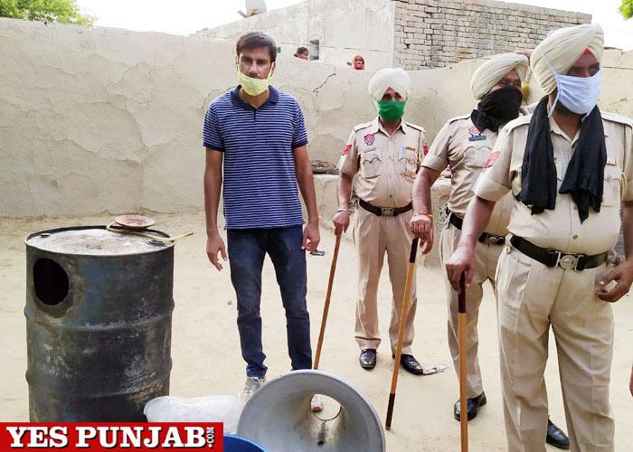 illegal liquor recovered Punjab Police