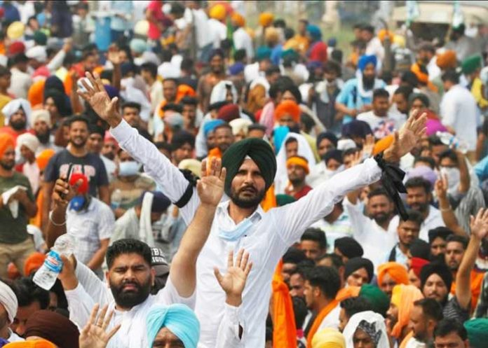 Farmers Protest in Punjab against Bill