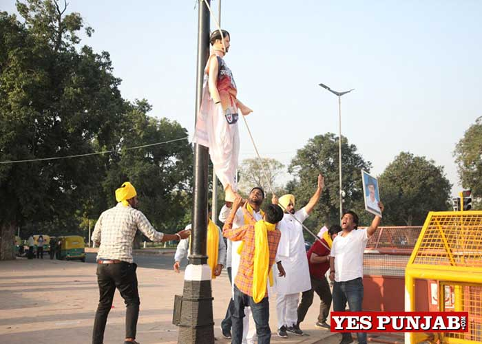 Punjab Youth Congress protest near India Gate 3
