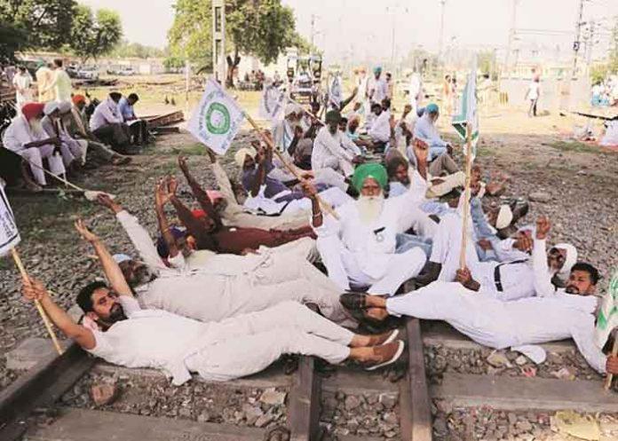 Farmers Rail Roko protest in Punjab