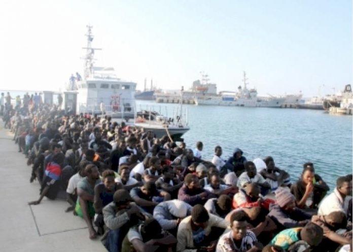 Illegal Migrants Libyan Coast