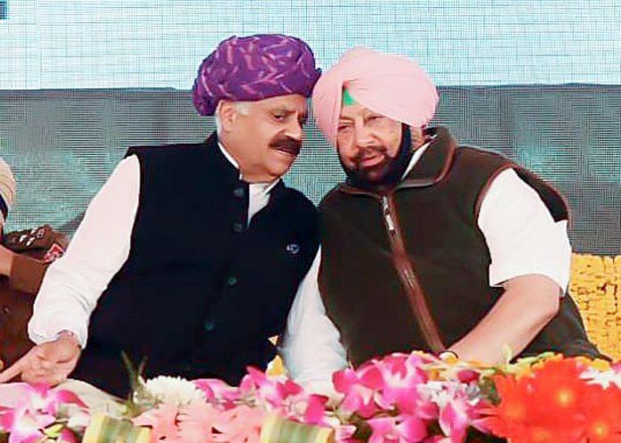 VP Singh Badnore Capt Amarinder