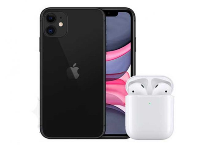 iPhone 11 AirPods