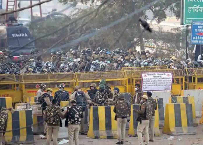 Farmers Protest Sanghu Border sealed