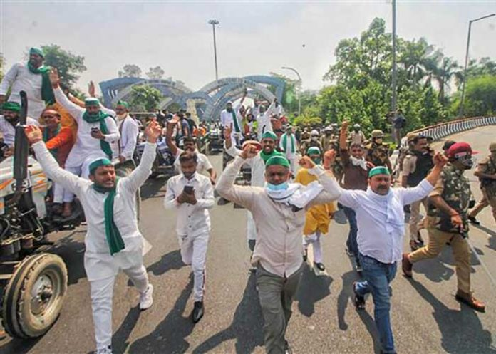 Farmers protest in UP