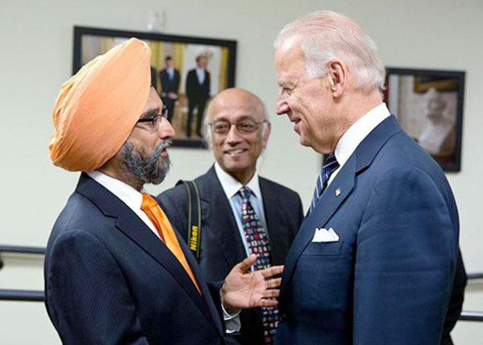 Rajwant Singh Eco Sikh Joe Biden