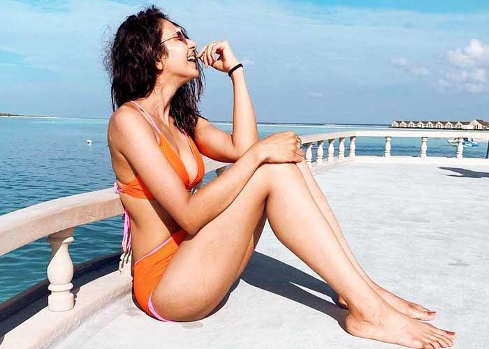Rakul Preet Singh orange bikini