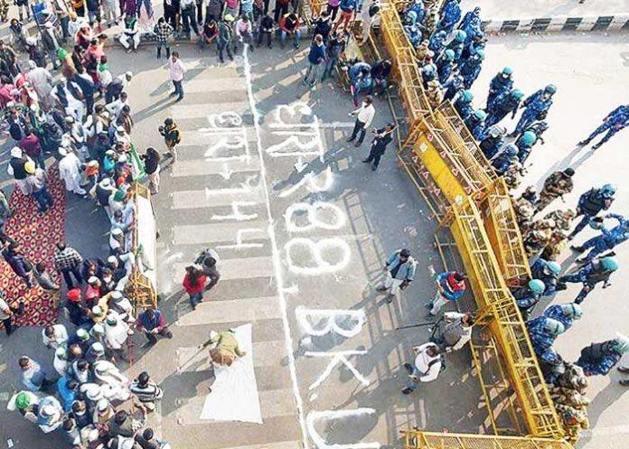 Farmers Ghazipur Border Barricading