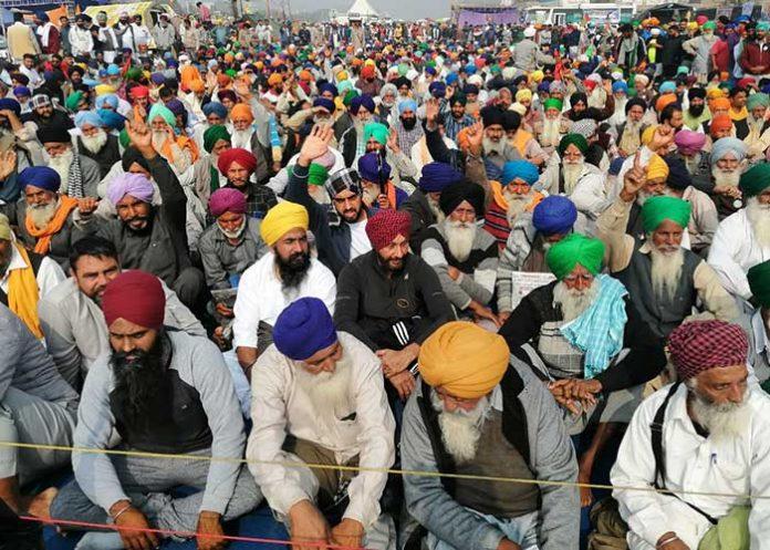 Farmers Protest at Singhu border