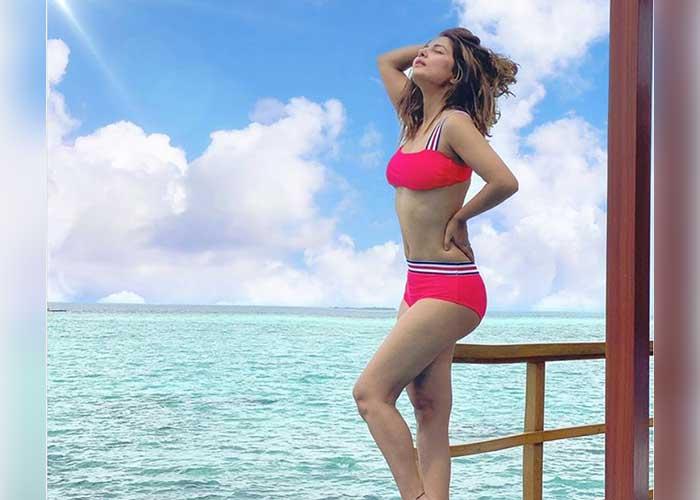 Hina Khan Pink Bikini