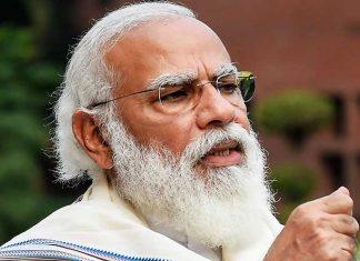 Narendra Modi Close Look Long Beard