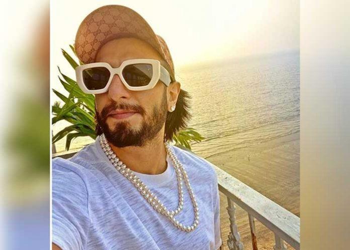 Ranveer Singh wears pearl neck piece