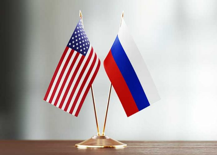 US Russia Flag