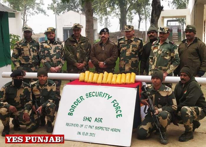BSFseizes 12 kg narcotic substance