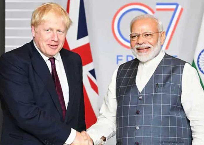 Boris Johnson Narendra Modi