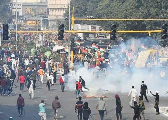 Farmers Delhi Police Clash