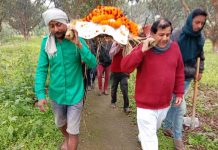 Funeral procession of dog Patna