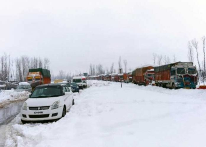 Jammu Srinagar Highway Snow