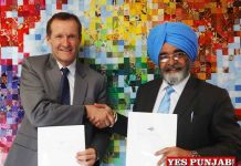 RS Bawa Chandigarh Univ sign MoU with Vancouver Island Univ