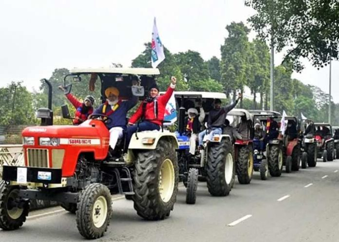 Tractor March Farmers Delhi