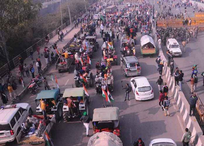 Tractor Rally at Delhi Vehicles