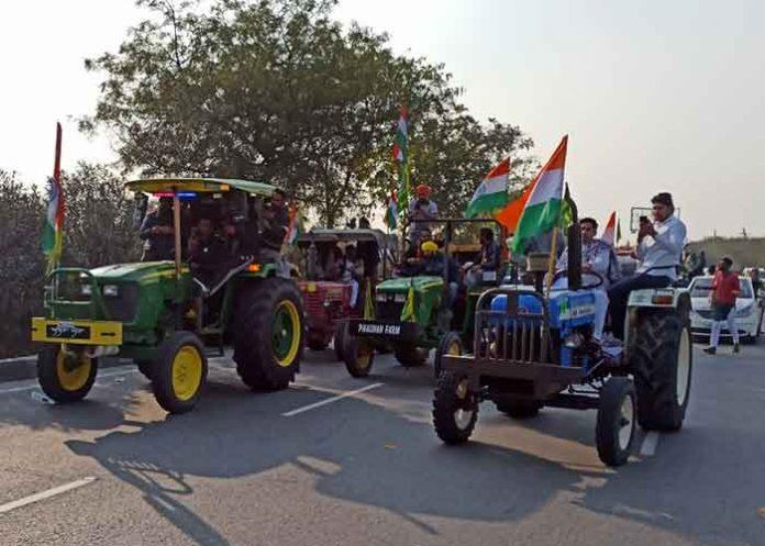 Tractor Rally in Gurugram RDay