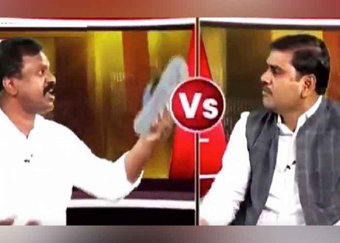 Activist hits BJP leader with slipper