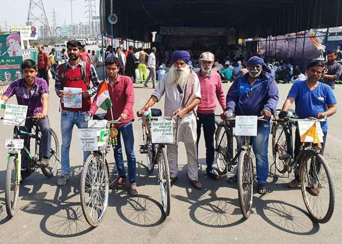 Farmers cycle rally from Kanyakumari to Kashmir
