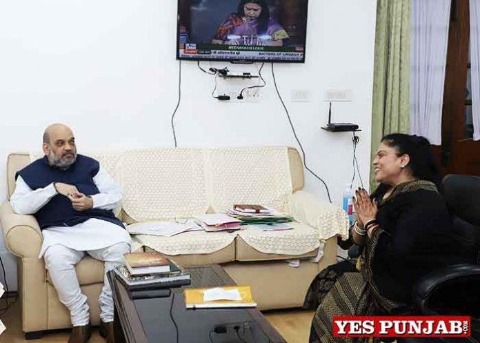 Manisha Gulati meet Amit Shah