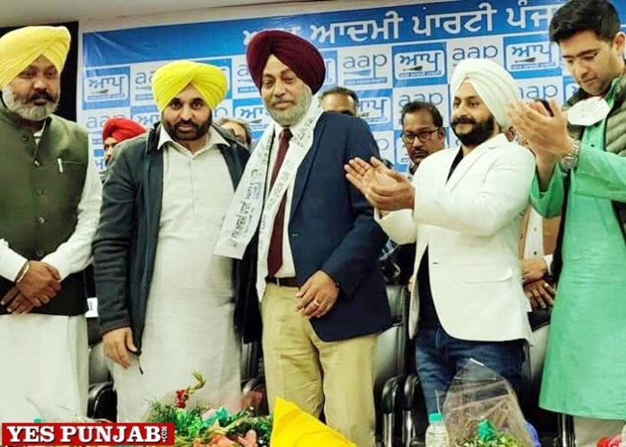Surinder Sodhi Hockey star joins AAP