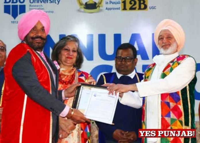 Tajinder Bittu conferred Doctor Honoris Causa Desh Bhagat University