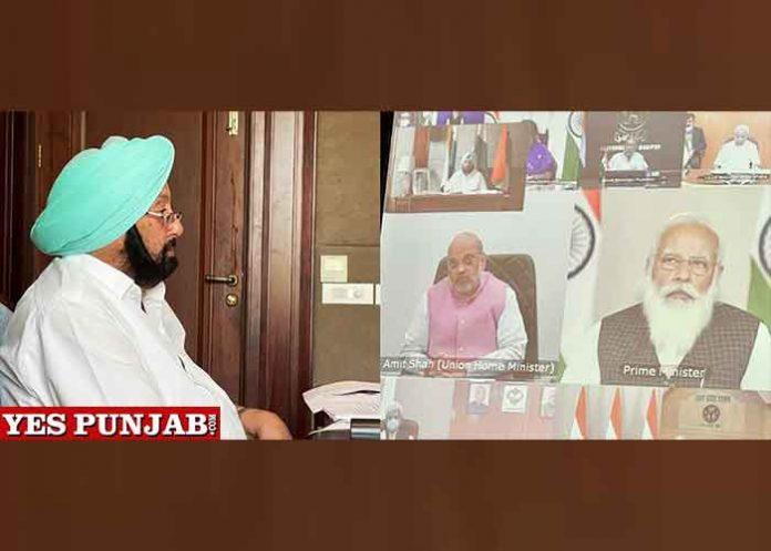 Amarinder during PM Modi meet with CMs