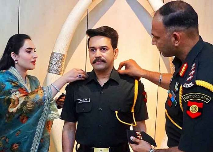Anurag Thakur become Captain in Territorial Army