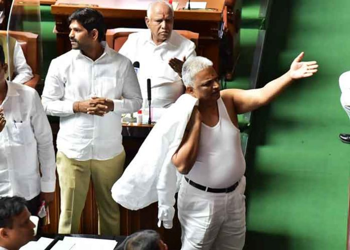 BK Sangamesh shirtless protest