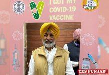 Balbir Sidhu get jab of Covid vaccine