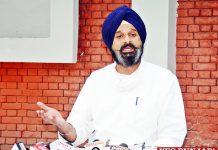 Bikram Majithia talk to media