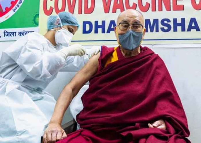 Dalai Lama take Covid vaccine first dose