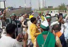 Farmers block NH24 during Bharat Bandh