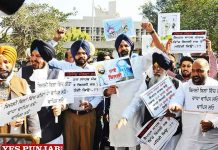 Majithia SAD Protest outside Assembly